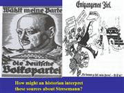 did stresemann help Germany to recover