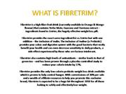 What is Fibretrim weight loss drink?