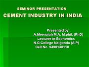 power point  cement industry
