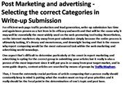 Post Marketing and advertising - Selecting the correct 3