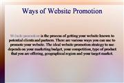 Ways of Website Promotion