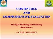 Monitoring and  Mentoring of CCE [Autosaved]