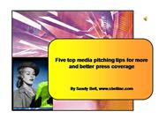 Top Five Media Pitching Tips