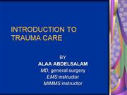 INTRODUCTION TO TRAUMA CARE