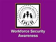 Workforce Security Training