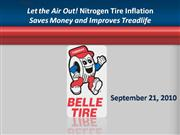 let the air out! nitrogen tire inflation saves money and improves trea