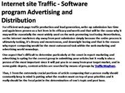 Internet site Traffic - Software program Advertising and Distribution