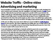 Website Traffic - Online video Advertising and marketing 2