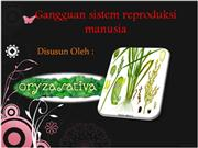 Gangguan sistem reproduksi manusia
