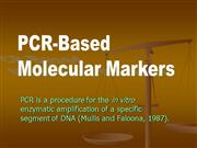 PCR Based DNA Markers