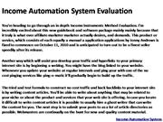 Income Automation System Evaluation 1