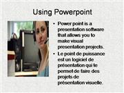 Using Powerpointfrench