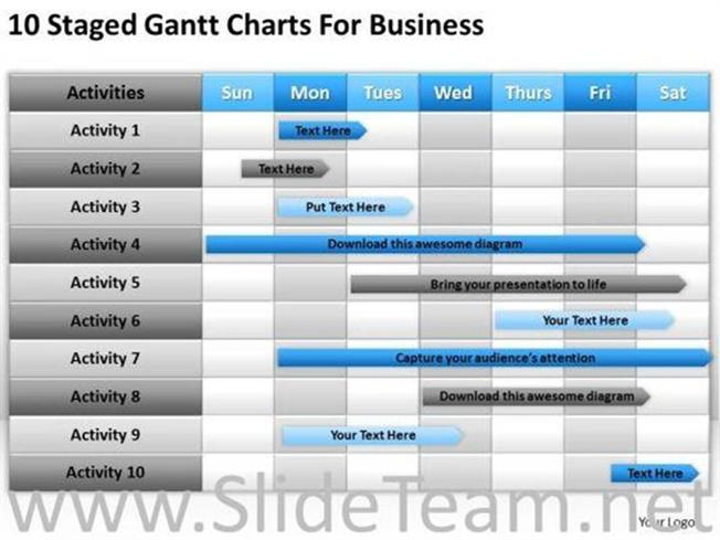 Business planning gantt chart ppt templates powerpoint diagram friedricerecipe Images