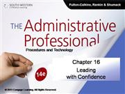 CH16 The Administrative Professional