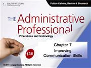 CH07 The Administrative Professional