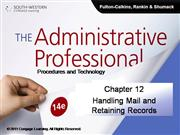CH12 The Administrative Professional