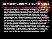 monterey travel guide, monterey tourist