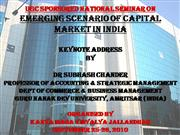 Emerging Scenario of capital markets in India