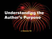 Understanding the Author's Purpose