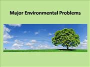 Major Environmental Problems ppt
