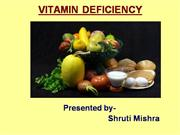 VITAMIN DEFICIENCY
