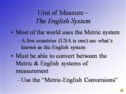 metric-english conversions