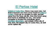 El Portico Hotel : Hotels in costa Rica,Costa Rica hotels,Accommodatio