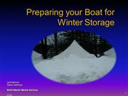 Preparing your Boat for Winter Storage
