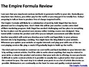 The Empire Formula Review 1