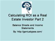 How to Calculate ROI as a Real Estate investor Part 2