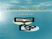 AUTHENTIC HUMANISM