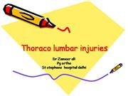 Thoraco lumbar injuries (2)