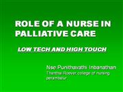 ROLE OF A NURSE IN PALLIATIVE CARE