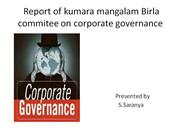 Report of kumara mangalam Birla commitee on corporate governance