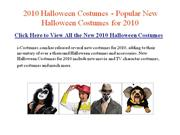 New 2010 Halloween Costumes - Most Popular Halloween Costumes