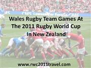 Wales In The 2011 Rugby World Cup