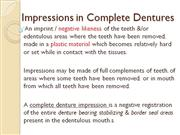 impressions in complete dentures