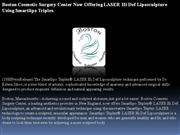 boston cosmetic surgery center now offering laser hi def liposculpture