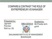 contrast between entrepreneur v/s manager -EDP