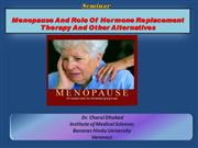 Menopause and role of HRT