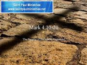 Bible Study - Mk. 4:10-20 Sower Explained