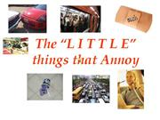 Bible Study - Mk. 4 17 The Little Things that Annoy