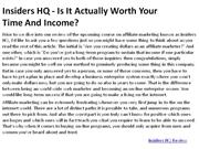 Insiders HQ - Is It Actually Worth Your 1