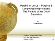 The Parable of Good Samaritan