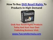 DVD Resell Rights Information Products