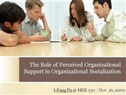 Organizational Socialization & Perceived Organizational Support