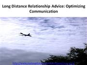 Long Distance Relationship Advice: Optimizing Communication