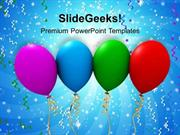PARTY BALLOONS EVENT POWERPOINT TEMPLATE