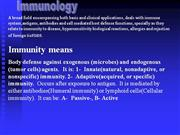 immunology 1 immune sysem, humoral and cellualr respone