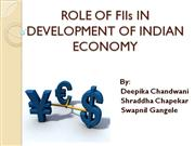 FII impact on Indian  capital market